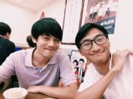 晚餐 台灣民間團體的朋友平軒特地來屯門為廸打氣。(開心)