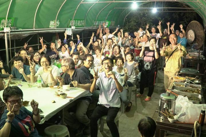 晚上 多謝咁多位來到大江埔歐羅有機農場!