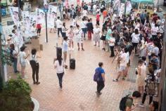圍觀的葵芳市民