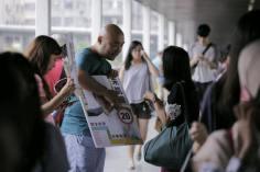 龐一鳴來到荃灣街站