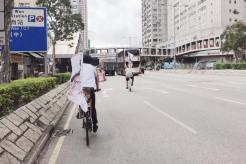 雖然好累,但每天安排行程時,朱凱廸都希望有單車環節,可以感到自由自在。